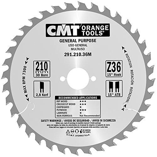 M/CMT 291.210.36 Crosscut Lame universelle Z-36 D-210 B-30 K-2,8 P-1,8