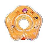 Salvagente ad anello, regolabile, gonfiabile, per bambini prima infanzia, età: 1 -18 mesi, Yellow
