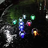 2Pcs RGB Solar Water Float Light Solar Pool Leuchtet Automatische Farbwechsel Lampe Und Solarteich Licht Im Freien.
