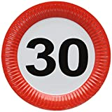 Folat Traffic, Party Geburtstag Teller 23cm (8Stück)–30. Geburtstag