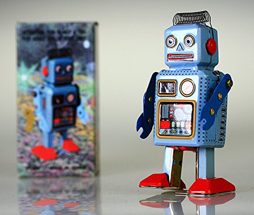 Robot Tin Toy Vintage Original Nuevo Nursery