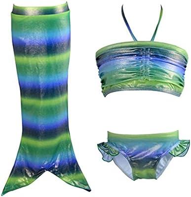 hibote muchachas 3pieces cabestro apta para nadar cola de la sirena del mar-criada del traje de ba?o Traje de Fantasšªa