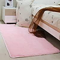 MultiWare Fluffy Area Rugs Anti Skid Yoga Carpet For Living Room Rugs  Bedroom Pink(