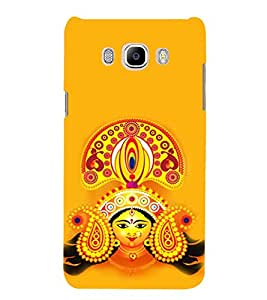 PrintVisa Designer Back Case Cover for Samsung Galaxy On8 Sm-J710Fn/Df (Maa Durga Devi Tribhuvaneshwari Papadharani Kumari Chaturbhuja Patradharini Dhanurdharini)