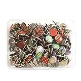 TOYMYTOY 120 Stücke Kreative Mode Stahl Reißnägel Pushpins Zeichnung Pins Reißzwecken für Büro Schule Corkboard Fotos Wandkarten
