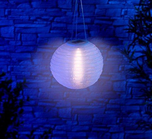 Lunartec Solar Laternen Lampions: Solar-LED-Lampion, Dämmerungs-Sensor, IP44, warmweiß – 3er-Set - 3