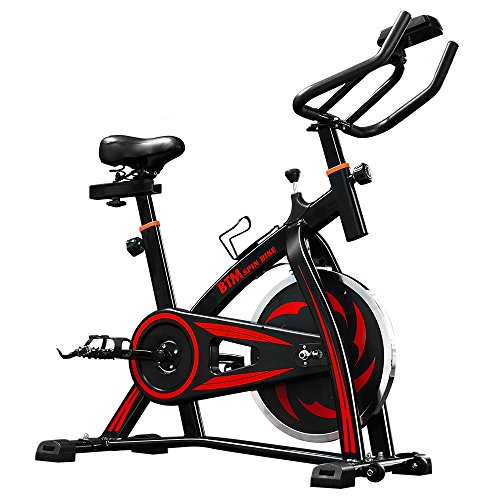 LIFE CARVER BTM Indoor Cycling Exercise Bike Spin Bike Studio Cycles Exercise Machines (red)