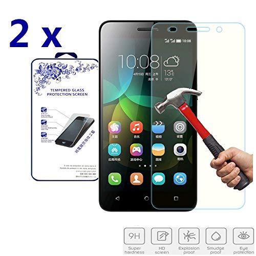Cardana | 2X bruchsicheres Panzerglas für Huawei G Play Mini / 4C | Schutzfolie aus 9H Echt Glas