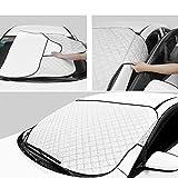 SCM Protezione Parabrezza Copriauto Auto Copertura Parasole Invernale Antineve Antigelo e Anti UV per Parabrezza (147 x 100cm)