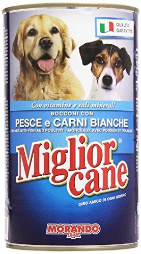 Migliorcane - Alimento Completo Per Cani, Bocconi Con Pesce E Carni Bianche - 1250 G