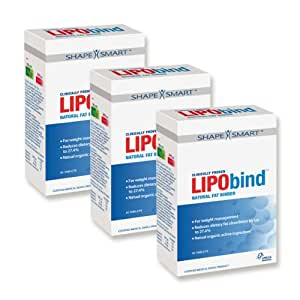 Lipobind Triple Pack - Clincally Proven Fat Binder 3 x 60 Capsules (expiry 31/10/2012)