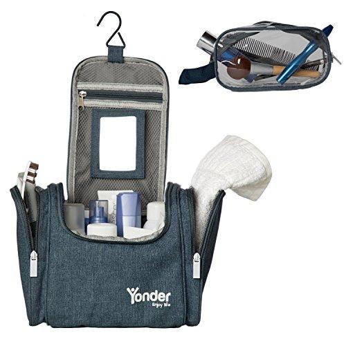 Yonder Premium Wash Bag | Innovative XXL Kulturtasche für Damen, Herren & Kinder mit Extra Transparenter Waschtasche | Extrem Robuster Kulturbeutel mit optimierter Aufteilung | 2 Jahre Gewährleistung (Camping Für Frauen)