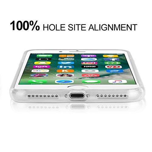 iPhone 7 Plus Hülle, APICI Transparent TPU Case Silikon Tasche Hülle Silicon Protector Schutzhülle Handyhülle mit Schmetterling-Mädchen für iPhone 7 Plus Clear Bumper