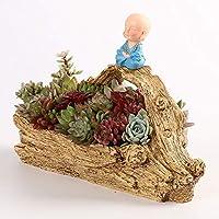 YAOHM Maceta de Plantas Creativas Decorada con Mini Jardín de Hadas y casa Dulce para Decoración de Vacaciones y Regalo