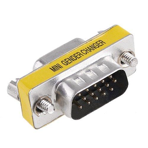 Db15-mini Gender Changer (KINGZER 15 pin HD DB15 VGA SVGA Stecker auf Buchse Gender Changer Adaptor Mini KVM)
