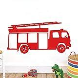 ufengke Stickers Muraux Camion de Pompier Autocollants Mural pour Chambre Enfant Garçon Décoration Murale