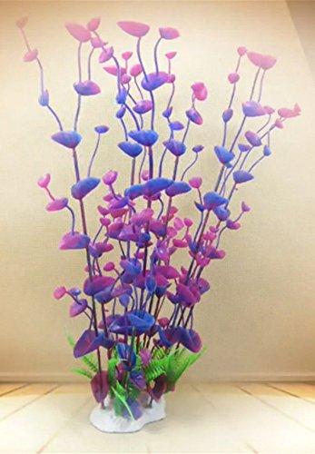 Dreammy Artificial Green Plant Aquarium Fish Tank Plastic Plants Decoration Ornament Tall Plant … 2