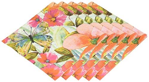 Abbott Collection duftende Meadow Papier Servietten, groß (20Stück) Butterfly Meadow Serviette