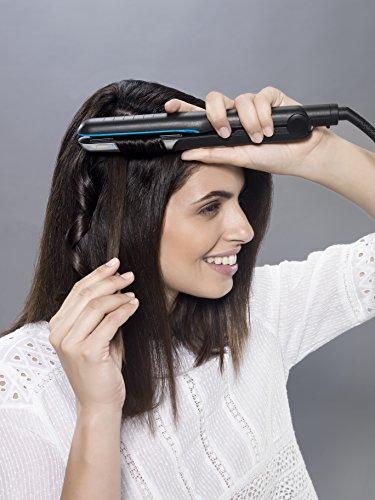 Rowenta Liss & Curl Ultimate Sunshine SF6220E0 - Plancha de pelo con doble salida Iónica, placas aluminio con recubrimiento de nanocerámica ultrashine, función 2 en 1 alisado y rizos Perfectos
