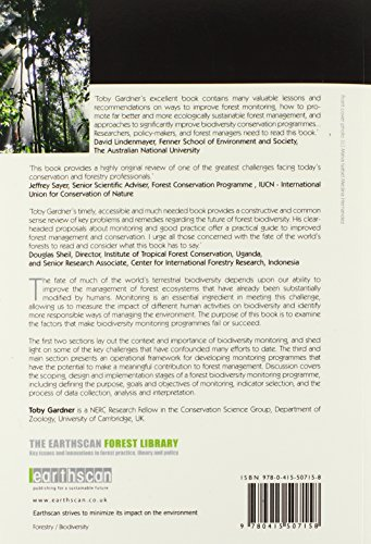 Monitoring Forest Biodiversity: Improving Conservation through Ecologically-Responsible Management (The Earthscan Forest Library)