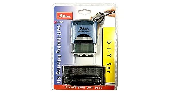Queta autoinchiostrante Printing kit Creative s-882/ufficio auto inchiostrazione timbro di gomma Stationary Business mini Stamper kit stampa