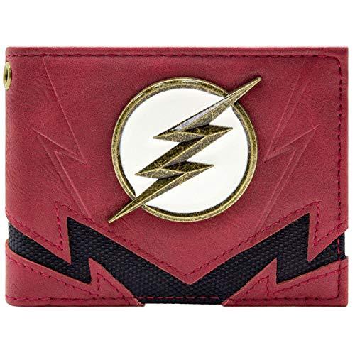 Flash The Fastest Man Alive Gold Abzeichen Rot Portemonnaie Geldbörse