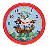 Rachel Ellen Collection Piratenschiff 26 Cm Kinder Quarz-Wanduhr