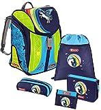 Step by Step Flexline DIN LED Schulranzen-Set 5-tlg Sonderedition Pegasus Rainbow pegasus rainbow