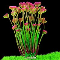 BSGP Artificial Aquatic Plants, Large Plastic Aquarium Plant Fish Tank Aquarium Landscape Underwater Decoration, Pink
