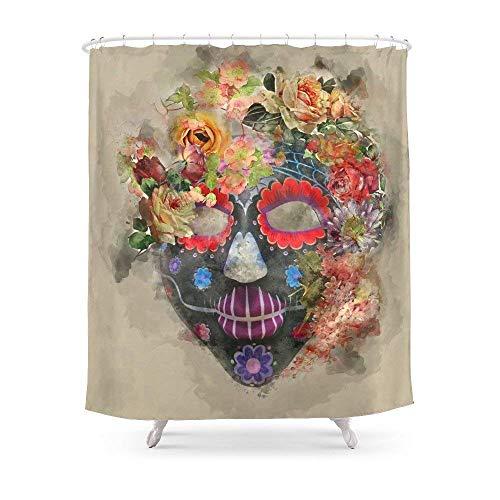 Suminla-Home Badezimmer Halloween Maske 3Vorhang für die Dusche 182,9cm von 182,9cm