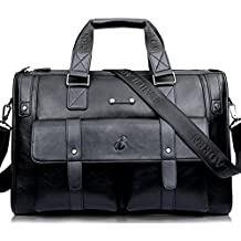 632f9a96b Gracosy Vintage Bolsos de Mano Bolsas de Hombro Maletín para Hombre Cuero  Bolso Bandolera Cuero de