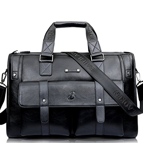Vintage Aktentasche Leder Gracosy Businesstasche Herren Groß Arbeitstasche Damen 15 Zoll Laptoptasche Lehrertasche Unitasche für Reise Büro Schwarz-Groß