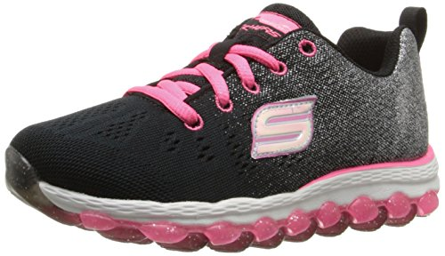 Skechers Skech Air Ultra Glitterbeam, Girls' Multisport Outdoor Shoes, Black (Black/Neon Pink),...