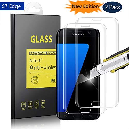 Alfort 2-Unidades Protector de Pantalla para Samsung Galaxy S7 Edge, 5.5...