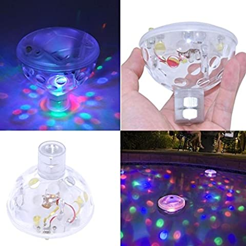 HANGQI(R) RGB LED Underwater Disco Aqua Glow Light Show Piscine étang Spa Hot Tub Floating Lamp