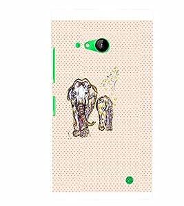 PrintVisa Animal Elephant Art 3D Hard Polycarbonate Designer Back Case Cover for Nokia Lumia 730