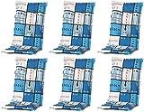 Madison 6 x 8 cm Luxus Hochlehner Auflage A 033 Tom Blue, blau kariert, 120 x 50 x 8 cm