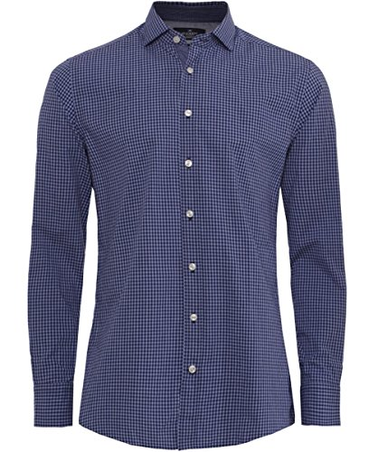 hackett-uomo-camicia-slim-fit-vichy-in-heather-blu-xl