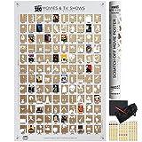 Wond3rland Poster à Gratter de Qualité avec 100 Films et 20 Emissions TV | Liste originale de films à voir | Cadeau d'exception pour les cinéphiles | Bonus inclus : set complet d'accessoires | Blanc