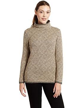 Jersey de Mujer 100% Lana de Alpaca Cuello Chimenea