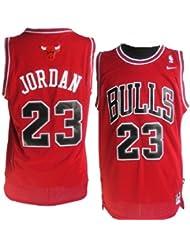 Camiseta de Chicago Bulls, Michael Jordan, roja Talla pequeña, para hombre, por Michael Jordan