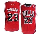 WEST COAST Jerseys Chicago Bulls#23 Michael Jordan dell'NBA, lavorato a maglia, colore: rosso di alta qualità 100 percento stitched. questo Nike-Maglietta è realizzato in tessuto poliestere elasticizzato air e il bagliore e un colletto a cost...