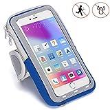 Handy Schutzhülle Tasche | für Doogee Y6 Max/ 3D | Sport armband zum Laufen, Joggen, Radfahren | SPO-2 Blau