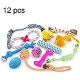 RoyalCare Giocattoli per cani 12 pacchetti Set regalo, corda a sfera masticare giocattoli scioccanti per cane da medio a piccolo