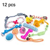 RoyalCare Dog Toys 12 Pack Gift Set, Ball Rope and Chew Squeaky Toys for Medium to Small Dog