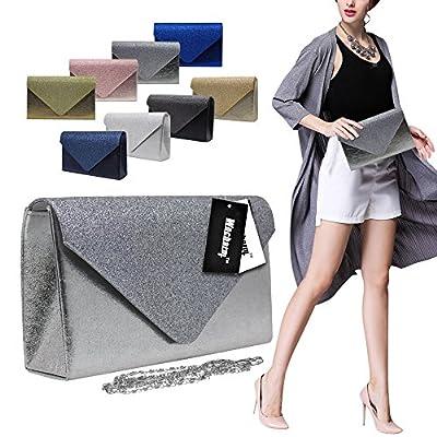 Wocharm Stylish Girly Hand Bag Sparkle Glitter Women Evening Clutch Bag Wedding Party Handbags