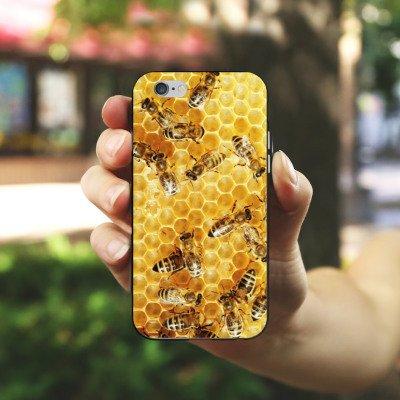 Apple iPhone 5s Hülle Case Handyhülle Bienen Biene Insekten Silikon Case schwarz / weiß