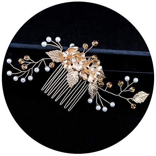 TOPQUEEN Haarschmuck für braut hochzeit haarschmuck hochzeit Silber Strass Braut Haarkamm Hochzeit Haarschmuck Tiara Diadem, Schmetterlinge (HP134)