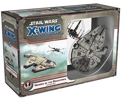 """Coffret de miniatures - jeu Fantasy Flight FFGSWX57 Star Wars X Wing """"Héros de la résistance"""""""