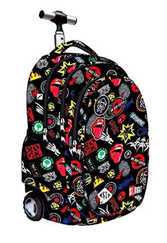 codice promozionale f37a6 a9942 St.Right Super Zaino Trolley Scuola Badges per Maschio o ...